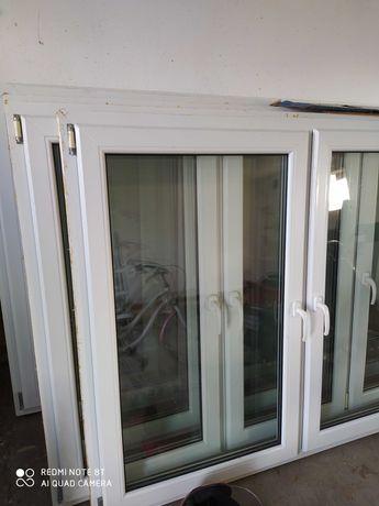 Okna pcv białe z demontażu 2 szyby różne rozmiary