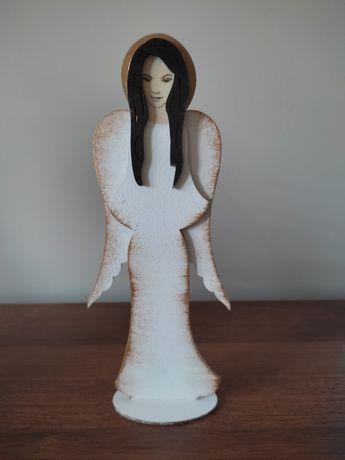 Anioł aniołek drewniany figurka