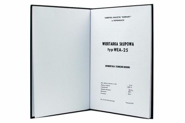 Dokumentacja DTR Wiertarka słupowa WEA-25, Instrukcja obsługi