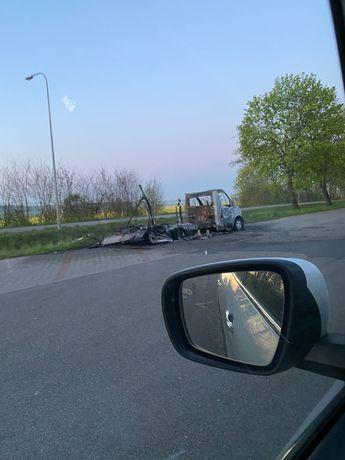 Renault master spalony, zarejestrowany