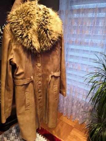 Płaszcz skórzany(skóra naturalna)