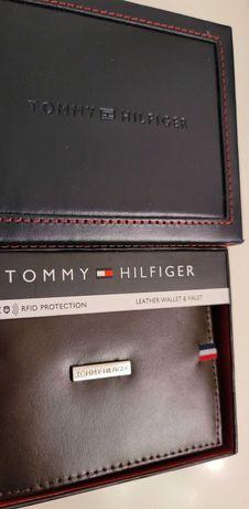 Tommy Hilfiger RFID Skóra Portfel Meski Karty Banknoty skorzany