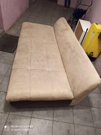 Sofa łóżko x2 stan bdb zamsz transport gratis