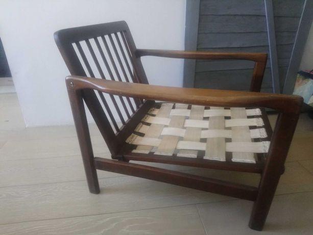 Fotel Zenon Bączyk B7522 vintage prl uszkodzony