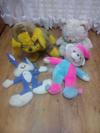 Мягкие игрушки большие собака заяц медведь все, за 100 грн
