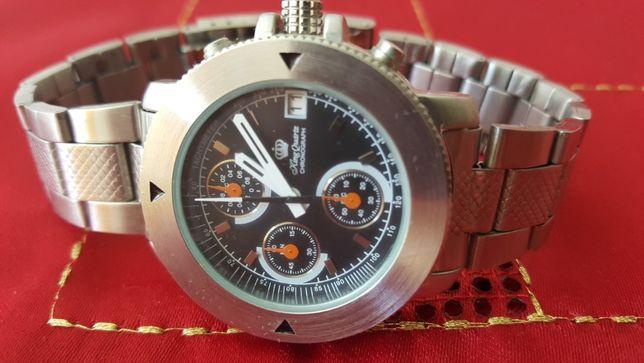 Zegarek Męski King QUARTZ Chronograph Tachymeter Nowy