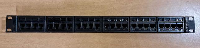 Patch panel 24 Portas Cat5E 1U