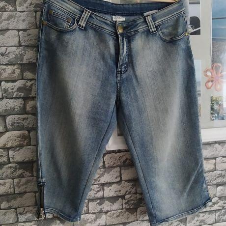 Spodnie roz18 rybaczki jeansowe