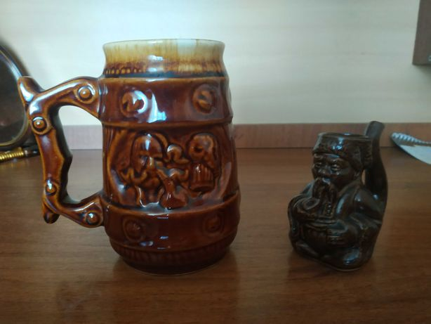Керамические пивная кружка и чашка поилка