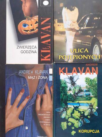 A.KLAVAN - kolekcja: Ulica Potępionych, Korupcja i 2 inne+książka free