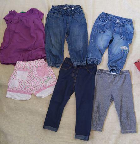 набор шорты бриджи лосины майка для девочки 12-18 мес. zara benetton