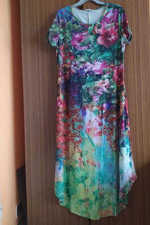 nowa letnia, kwiecista sukienka XL