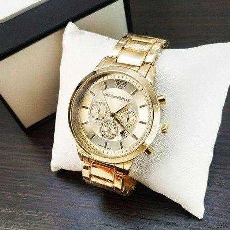 Мужские часы Armani Emporio, Армани, чоловічий годинник, золотые