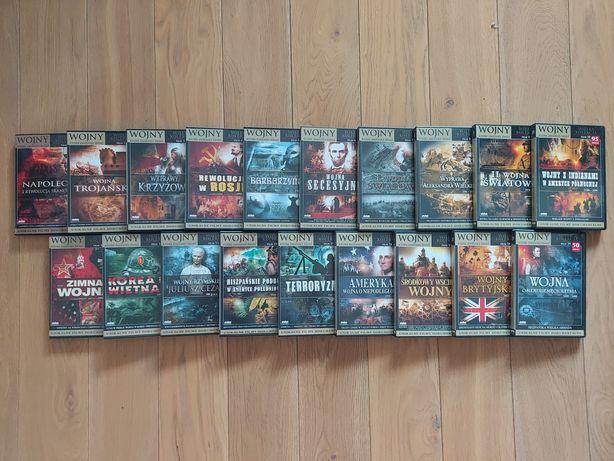 Kolekcja filmowa 19 DVD filmów wojennych dokumentalnych
