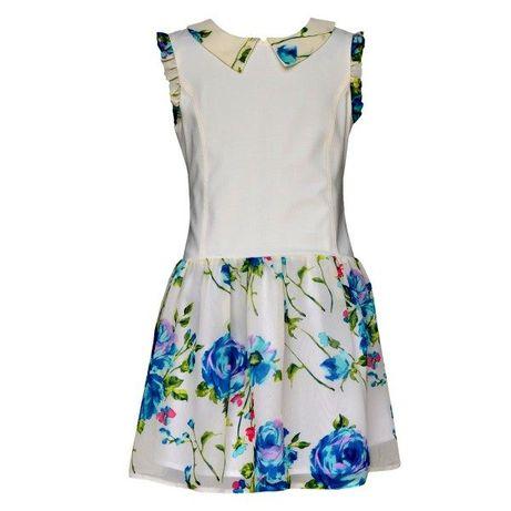 Sukienka wizytow niebieskie róże rozmiary 140, 146, 152