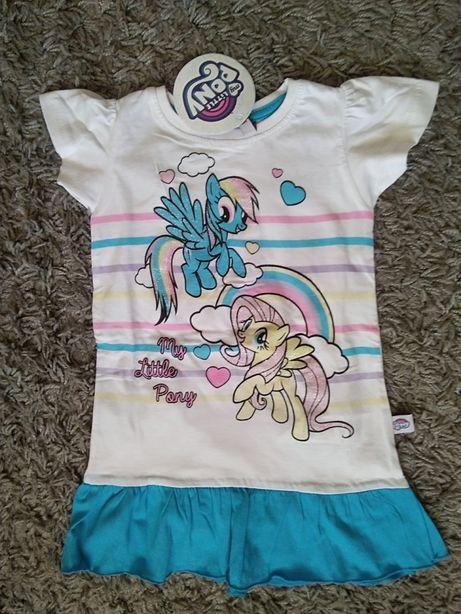 Sukienka krótki rękawek nowa Pony 92/98