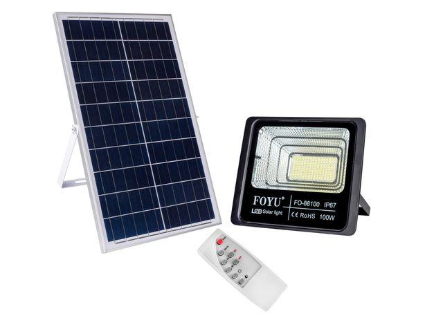 Уличный LED прожектор 100 Вт на солнечной панели