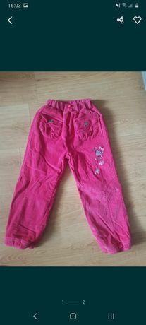 Spodnie dla dziewczynki ocieplane rozm98