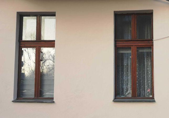 okna drewniane , skrzynkowe z szybami stan bdb 3 szt