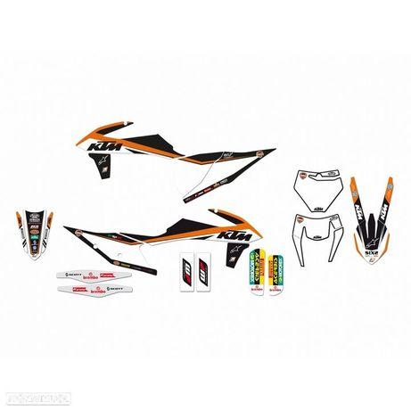 kit autocolantes blackbird replica tem trophy ktm exc / sx