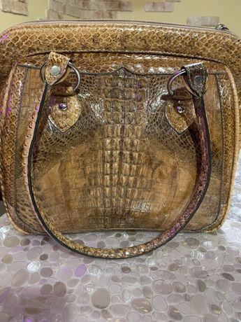 Сумка кожа крокодила, натуральная 100%
