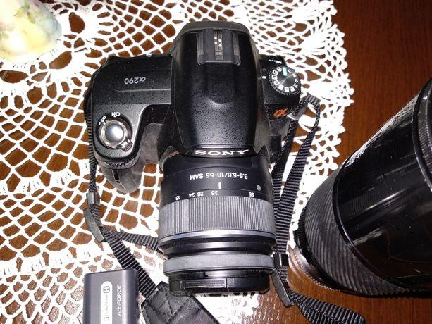 Lustrzanka Sony a290 z Minolta 70 210 f4