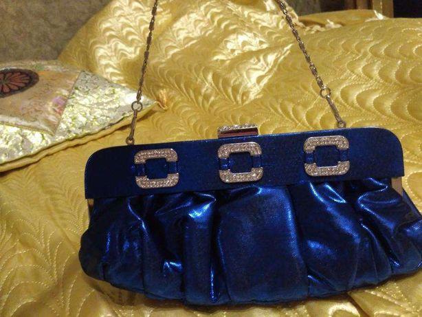 Вечерняя сумочка / клатч синего цвета