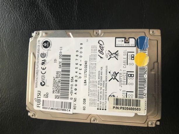 Жесткий диск HDD 2.5 IDE 40GB 60GB 80GB для ноутбука