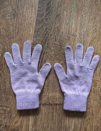 Różowe rękawiczki New Yorker