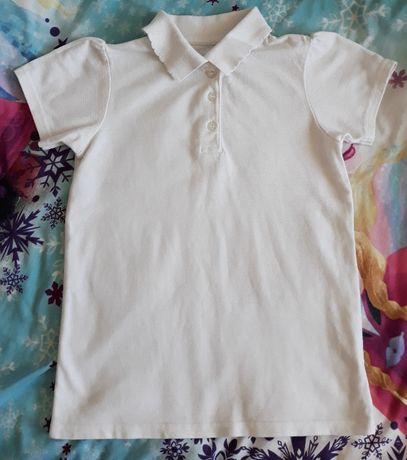 Biała bluzka koszulka polo z krótkim rękawem krótki rękaw 122