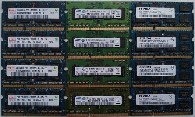 Память для ноутбука SO-DIMM 2Gb DDR3 1333 (PC3-10600S)