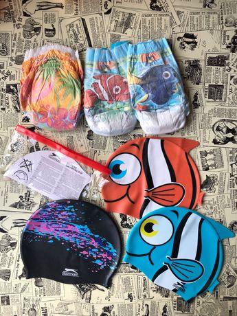 Шапочки для плаванья Slazenger подгузники для бассейна Huggies Libero