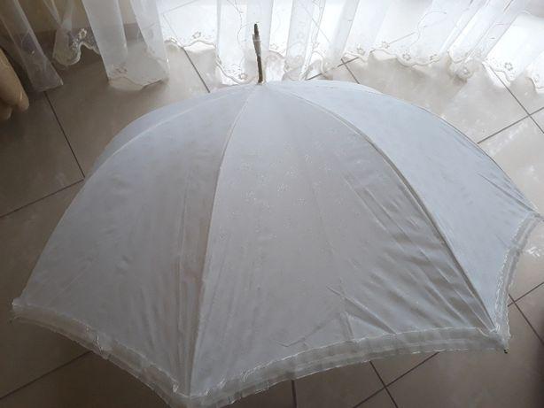parasolka na chrzest ślubna biała ze złotymi elementami LauraBiagiotti