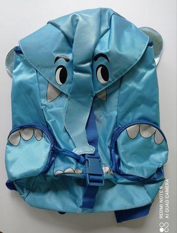 NOWY niebieski plecak.