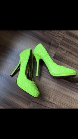 Туфли яркие в паетках,  jumex, 35 размер