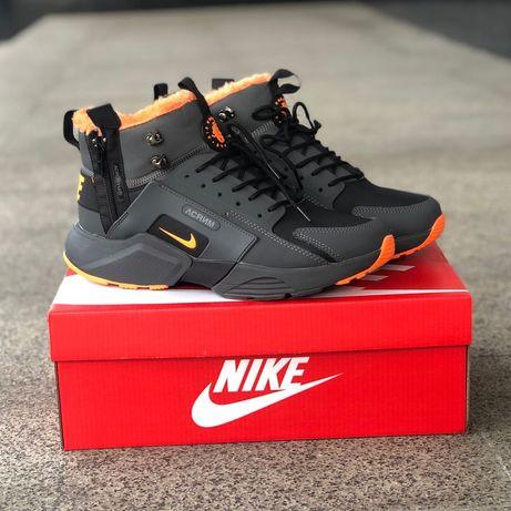 Nike Air Huarache Acronym Black/orange (ЗИМА)