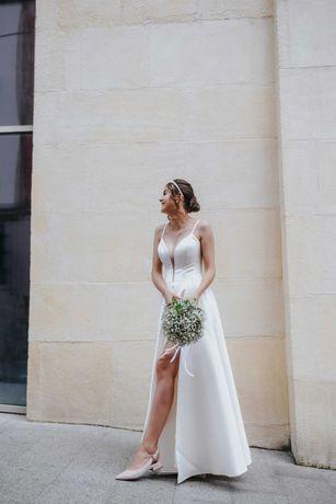 Весільне плаття із королівського атласу + подарунок