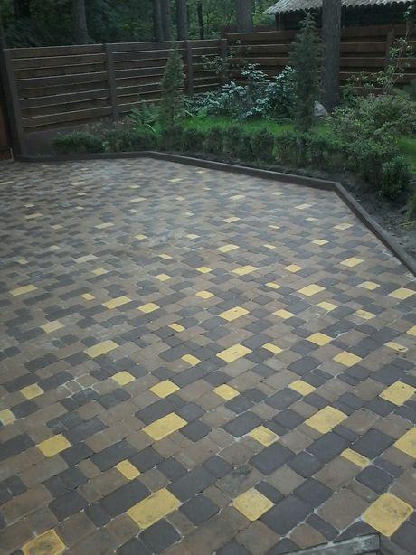 Укладка тротуарной плитки 70грн+СКИДКИ