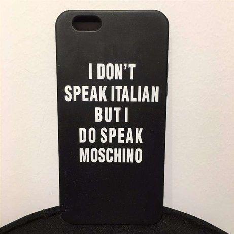 Capa Maleável Para iPhone 6S - Moschino