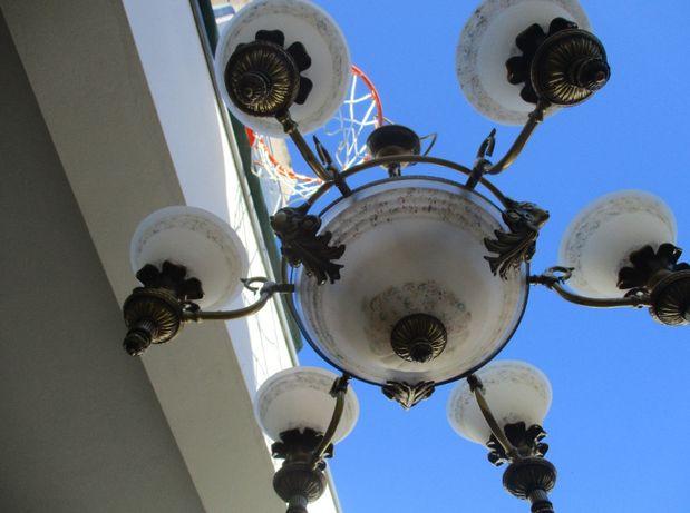 Candeeiro Lindíssimo de teto de sala antigo como novo 9 lâmpadas