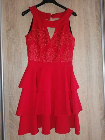 Sukienka rozmiar 34 czerwona