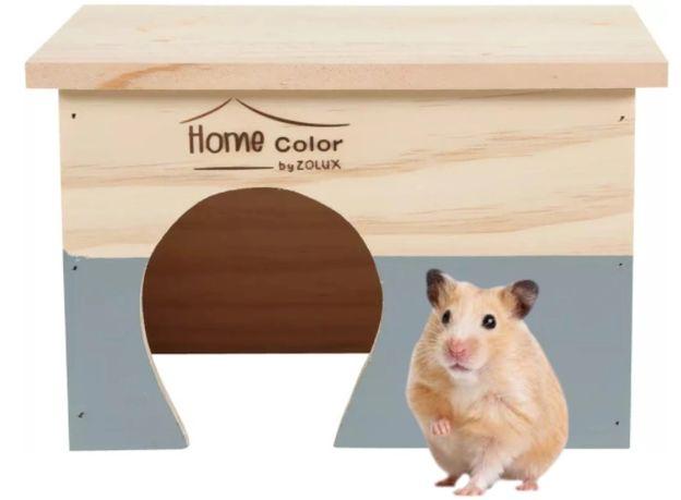 Zolux Drewniany Domek Klatka Dla Myszki Chomika