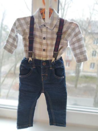 Костюм , рубашка, штаны, джинсы , подтяжки