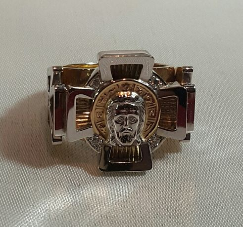 Золотой перстень с ликом Христа
