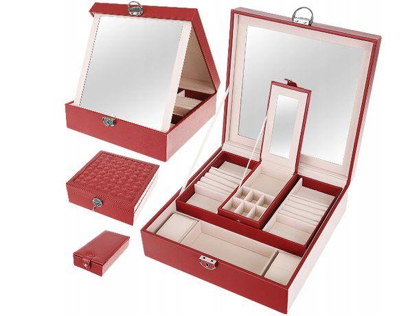 Szkatułka Organizer na Biżuterię Zegarki Pudełko L