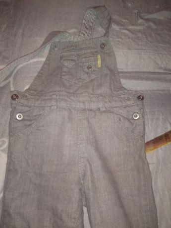 Spodnie chłopięce Coccodrillo na szelkach 92
