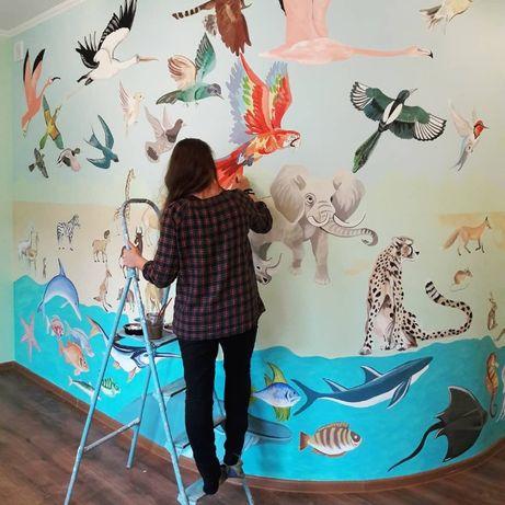 Художественная роспись стен в интерьере и экстерьере