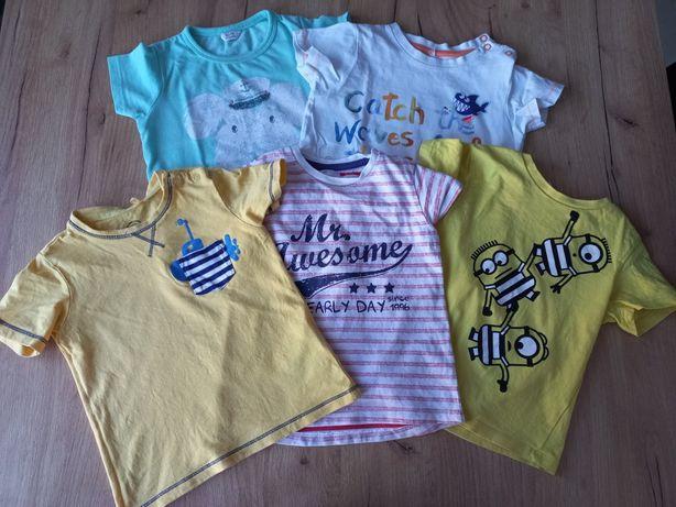 Koszulki chłopięce r. 86