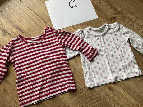 Ubranka dla dziewczynki - wyprawka, bluzki, body, kaftanik 56-68