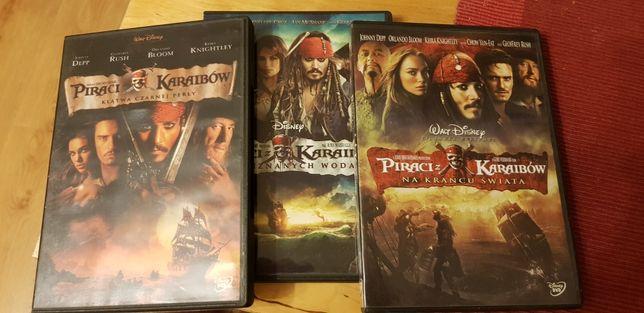 Piraci z Karaibów DVD Cała Seria 3 płyty